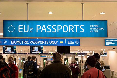 Border Prague airport