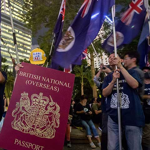 BN(O) Passport, protests in Hong Kong