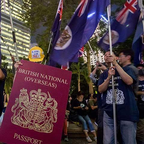 BN(O) Passport, protests in Hong Kong