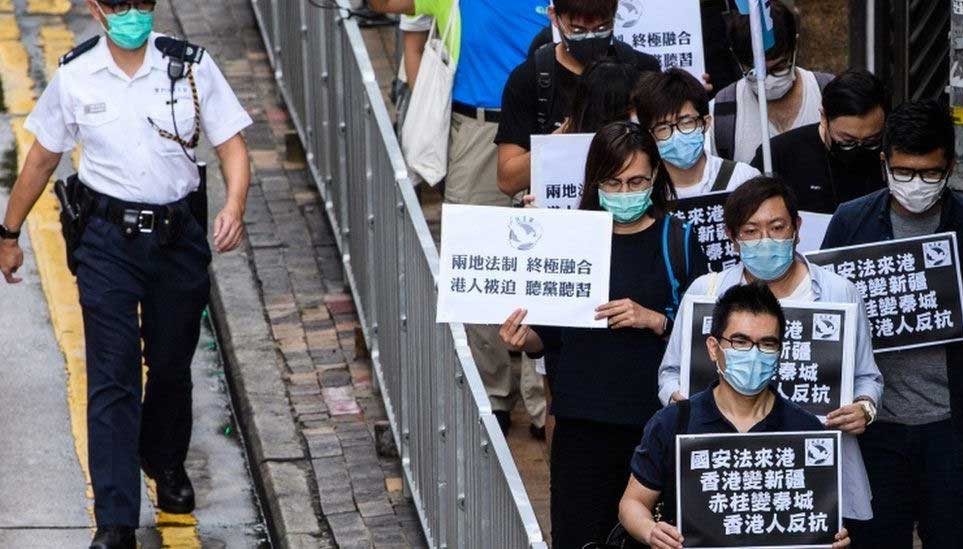 protests in HK - May 2020