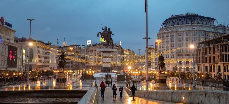 North Macedonia city