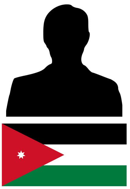 citizen of Jordan with flag