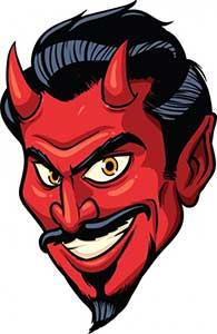 devil's face