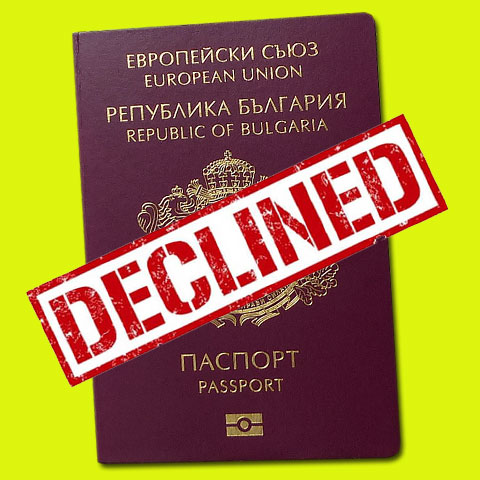 Bulgarian citizenship application declined