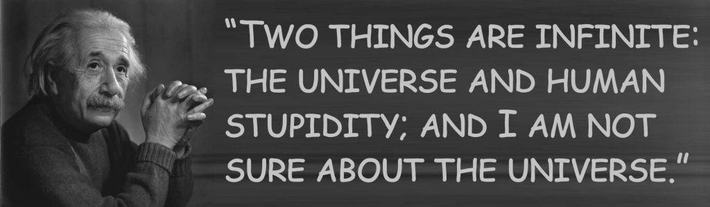 Einstein about stupidity
